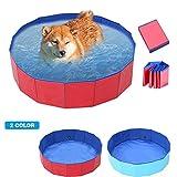 wangza Badewanne Hund Klappbar Haustierbad Pool Klein Planschbecken Runde 60cm Badewanne für Haustiere Hunde Katzen Baden für Haustiere Bis 30 Kg