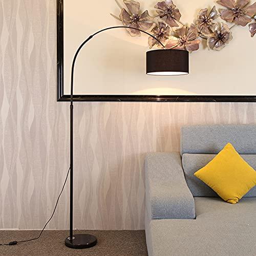 LED Diseño Simple Modernas Lámpara De Pie con Pantalla Lámparas Altas para Sala De Estar Dormitorio Oficina Lámpara De Poste Negro con Interruptor De Pie con Bombilla LED De 9W,Negro