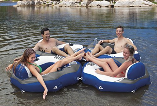 """Intex River Run Connect Inflatable Lounge, 51\"""" X 49\"""" by Intex"""