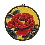 DIY牡丹クロスステッチの円初心者刺繍がパッケージ針と糸刺繍手作りクラフト絵画 (Color : 3)
