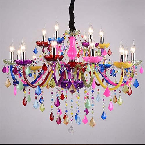 Luces de techo, lámparas modernas LED LED iluminación de cristal Bohemia Colgante...