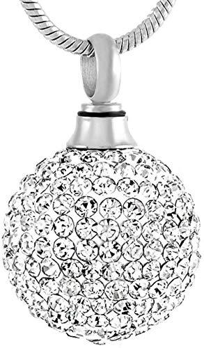 Damenketten Asche Einäscherung Halskette Souvenir Halskette Anhänger Kette elegante Strass Kristall eingelegt sphärische Einäscherung Anhänger Gedenkasche Asche Box Halskette Damen Accessoires Asc