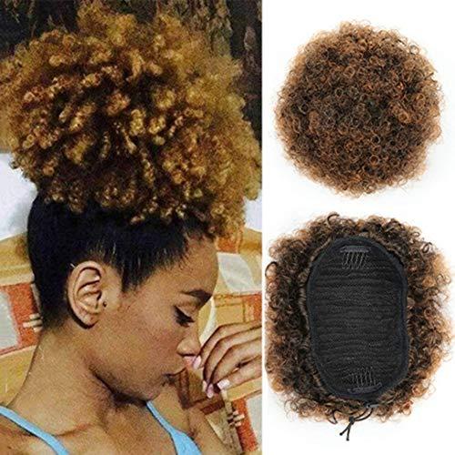 Usexy Synthétique Bouclés Wave Pince à Cheveux En Queue De Cheval Court Afro Crépus Frisés Wrap Synthétique Cordon De Serrage Puff Queue De Cheval Extensions De Cheveux Perruque Pour African American