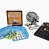 Regal Games Deluxe Bingo Game Set with Bingo Cage, Bingo Board, Bingo Balls, Bingo Cards, and Bingo Chips, Ideal for Large Groups