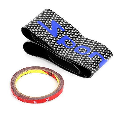 Qiilu kofferbakbeschermer achter, universele auto achterbumperbekleding anti-krasbeschermer(blauw)