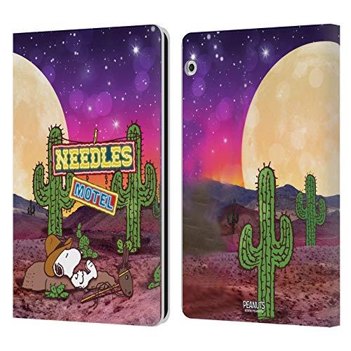 Officiële Peanuts Nebula Cactus Naalden Snoopy Space Cowboy Lederen Book Portemonnee Cover Compatibel voor Huawei MediaPad T3 10