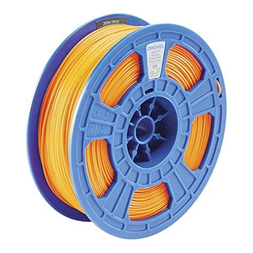 Dremel DigiLab PLA-ORA-01 3D Printer Filament, 1.75 mm Diameter, 0.75 kg Spool Weight, Color Orange, RFID Enabled, New Formula and 50 Percent More per Spool