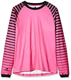Asioka 157/17N Camiseta de Portero de Mangas Largas, Unisex niños, Fucsia/Negro, 12-14