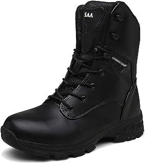 f408b45eece NDHSH Botas de Combate para Hombre Botas Altas Botas de Camuflaje Calzado  con Cremallera Lateral Botas