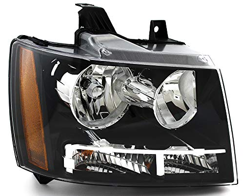 JP Auto Headlight Compatible With Chevrolet Chevy Tahoe Hybrid Suburban Avalanche 2007 2008 2009 2010 2011 Passenger Right Side Headlamp