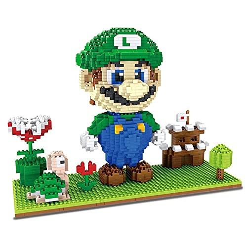 CCDUSE Mini Bloques Juego Super Mario Series Edificio Conjunto Modelo 3D Nano Micro Blocks 3D Puzzle Micro Bricks Bricolaje Regalo de Juguetes para niños Adulto