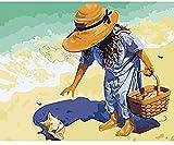 YCMXMY Puzzle 1500 Teile, Sammeln Von Kinderschalen Strand, DIY Moderne Kunst, Hölzern Personalisiert Zusammenbauen Rätselspaß Spiele, 87X56Cm