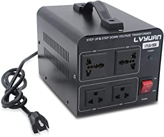 Cantonape Voltage Transformer Converter 1500 Watt Step Up/Down Convert from 110-120 Volt to 220-240 Volt and from 220-240 Volt to 110-120 Volt with 2 US outlets, 2 Universal outlets, Circuit Breaker
