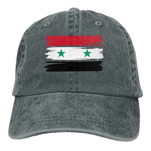 LanKa Baseball Cap für Männer und Frauen, Syrische Flagge Unisex Baumwolle verstellbare Denim Cap Hut
