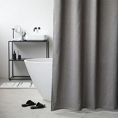 GLJY Graue feste Farbe Duschvorhang Tuch Nordeuropa japanischen Stil Badvorhang Nachahmung Leinen Duschvorhang Wasserdichte Mehltau Verdickung,dark grey_200*240cm