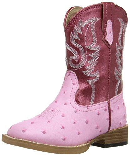 Old West Kids Boots Poppets (Infant/Toddler) Tan Vintage 3 Infant M
