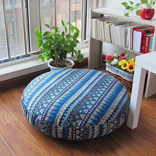 ZXYY Tatami-matten, rond, futon, groot, Japans vloerkussen, 24 x 24 inch
