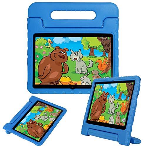 """LEEBOSS Niños Funda Para Huawei Mediapad T3 10 (9.6 Pulgadas), A Prueba De Golpes Ligero Soporte De Manija Protectora Cubierta De Los Niños Para Huawei Mediapad T3 10 (9.6"""") - Azul"""