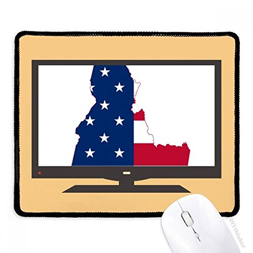 Idaho Tapis de souris en caoutchouc antidérapant Motif étoiles Motif drapeau de l