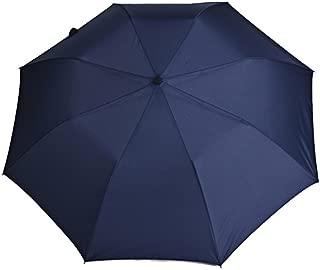 Men's and Women's Business Umbrella Folding Large Reinforcement Wind Resistance Two Folding Umbrellas Double Sun Umbrella Students Huhero (Color : Blue)
