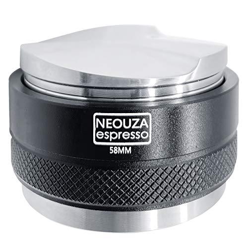 NEOUZA 58 mm Kaffee-Verteiler & Tamper 2-in-1, Doppelkopf-Kaffee-Nivellierer, passend für E61-Gruppen-Maschinen, Siebträger, verstellbare Tiefe, professionelle Espresso-HandTampers