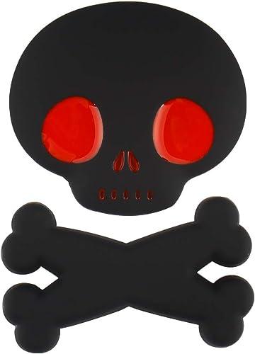 high quality Larcele 1 Piece Metal Cute Skull Car online Sticker 3D Self Adhesive Decor JSCT-01 sale (Black) outlet online sale