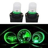 WLJH Green T10 Led Bulb 194 W5W PC168 PC194 PC195 Dash Socket Car Instrument Panel Gauge Light Kits, Pack of 20