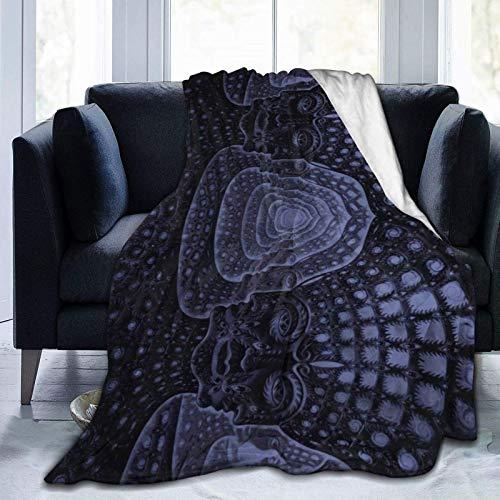 LUCKY Home Manta de cama con banda para herramientas para sofá/salón/mantas de invierno de peluche cálidas y acogedoras para adultos o niños 60 'X50