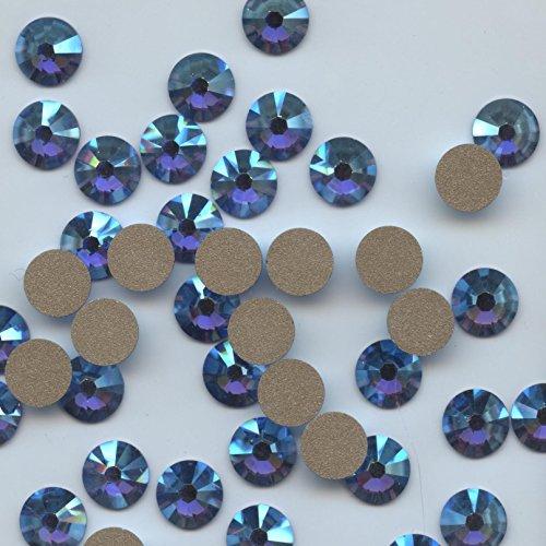 2058SS30Sax * * * 15cristales Swarovski, fondo plano no Hotfix 6,4mm Sapphire...