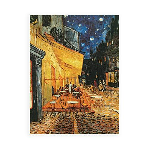 DìMò ART Kunstdruck auf Leinwand, Motiv Van Gogh Vincent Cafe de Nuit