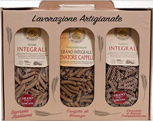 Pâtes spéciales Toscane de blé entier avec farine de blé ancienne 3x500gr