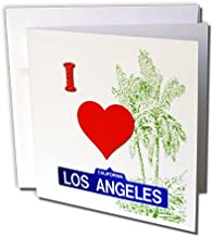 I love Los Angeles California Pacific ocean saying - Greeting Cards, 6 x 6 inches, set of 12 (gc_216455_2)