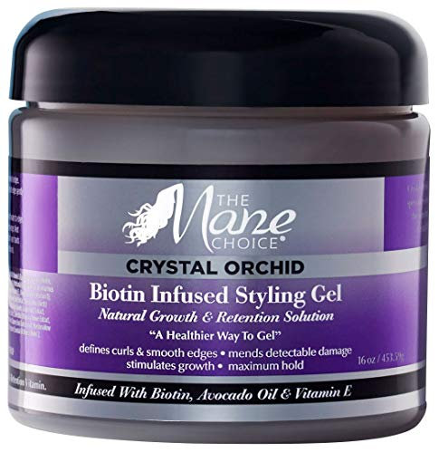 THE MANE CHOICE - Crystal Orchid Biotin Infused Styling Gel, Natural Growth and Retention Solution - A Healthier Way To Gel, 16 Oz, Pack of 1