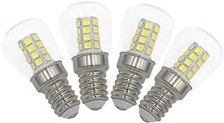 3W E14 LED Frigorífico Congelador Bombillas Pack de 4 Blanco Frío 6000K, equivalente a 40W, para nevera, máquina de coser, lámpara de escritorio