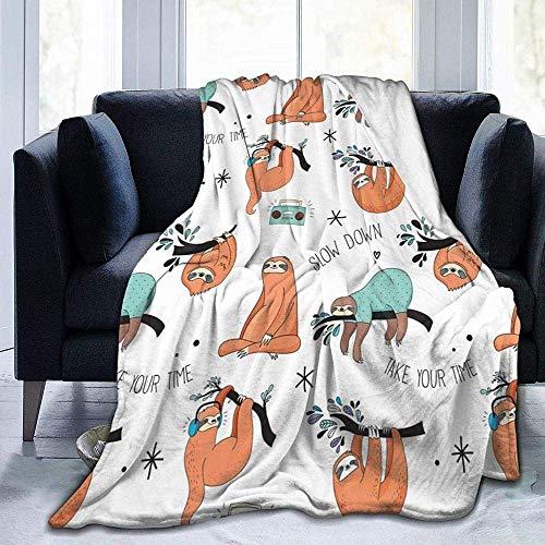 Mantas, de fácil cuidado, forro polar súper cálido, suave, versátil, manta para sofá, manta marrón estampada para dormitorio, sala de estar, sofá, cama, sofá de 152 x 127 cm