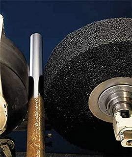 Coarse Grit 3850 Maximum RPM Aluminum Oxide 3 Arbor Hole 8 Diameter x 1//2 Width PFERD 48209 POLINOX PNK Non-Woven Abrasive Convolute Wheel