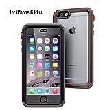 Catalyst Funda Impermeable iPhone 6 Plus con Correa, Material de Grado Militar a Prueba de Impactos y caídas, natación, Accesorios para cruceros, iPhone 6 Plus Waterproof Case - Negro/Naranja