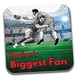 Dessous de verre Toulon's Biggest Fan Rugby - Cadeau d'anniversaire/Chaussette