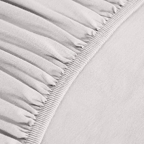 """sleepwise """"Soft Wonder-Edition Spannbettlaken (Light Grey, 180x200-200x200 cm)"""