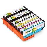 Gohepi 33XL Compatibili Cartucce Epson 33 XL per Epson XP-640 XP-530 XP-830 XP-645 XP-540 XP-900 XP-630 XP-635 XP-7100, Confezione da 6 (2 Nero, 1 Foto Nero, 1 Ciano, 1 Magenta, 1 Giallo)