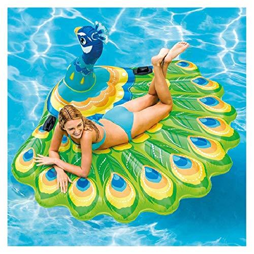 ZXS668 Aufblasbare Lehnstuhl Kind Erwachsene Wasser Berg Peacock Schwimmen Ring Spielzeug Wasser schwimmende Reihe Sitz Aufblasbares Schwimm Bett