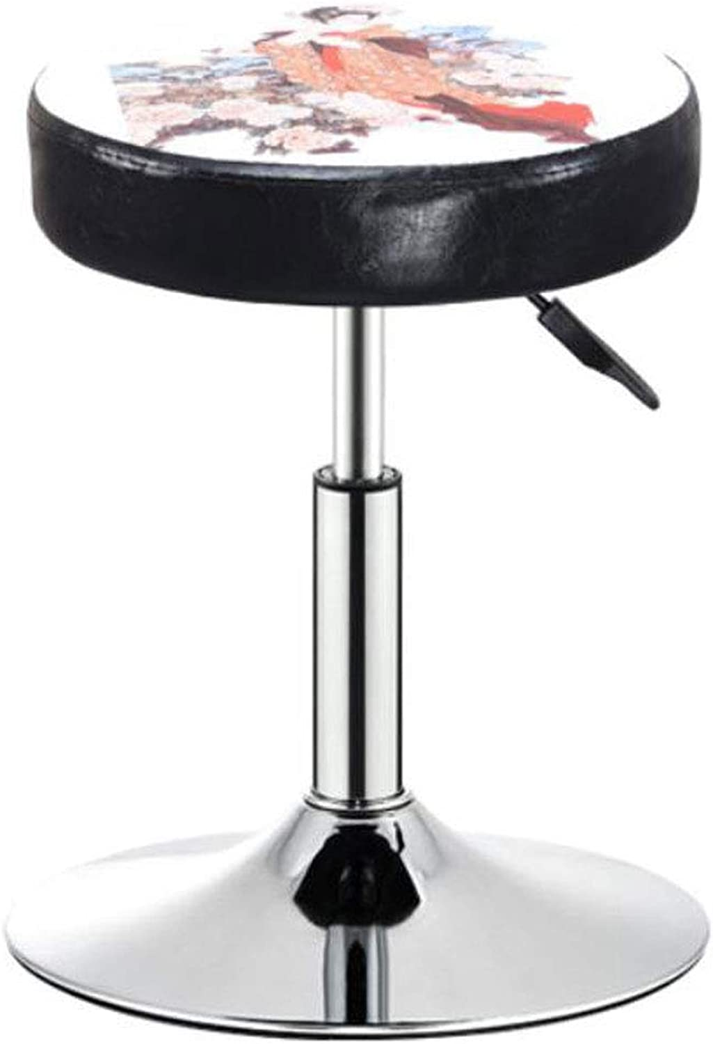 Barstools, Bar Swivel Chair Lift redary Beauty Salon Massage Chair color Printing Casual High Metal Bar Stool (color   C)