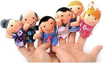 TOOGOO(R) Carino 6pz burattini familiari - Persone Include mamma, papa', nonno, nonna, Fratello, Sorella e fermacavo