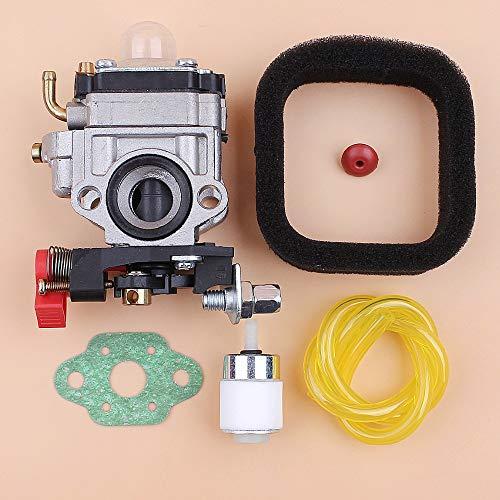 Tiempo Beixi Filtro de Aire del carburador Manguera de Combustible Fit Kit for Kawasaki TH23 TH26 TH34 Kaaz OLEOMAC BV162 23cc 25CC 26CC 35CC Trimmer 33cc Sopladores