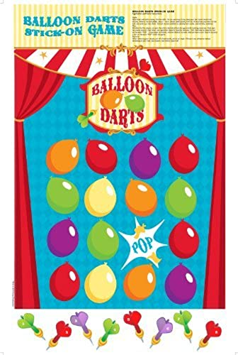 Carnival Games Party Supplies - Balloon Darts Stick-On Party Game by BirthdayExpress