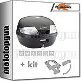 kappa maleta k35nt 35 lt + portaequipaje monolock compatible con benelli leoncino 500 2019 19 2020 20
