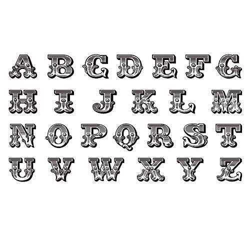 3 Blätter Schwarz Englisch Alphabet DIY Name Körper Temporäre Tattoos Gefälschte Tätowierungen Designs Finger Kunst Aufkleber Tattoo Aufkleber