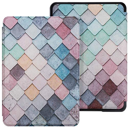 WALNEW Kindle Paperwhite Case 10th Generation-2018, Slim PU Leather Case Smart Auto Wake Sleep Cover Only Fits 2018 All-New Kindle Paperwhite 10th Gen (Model No. PQ94WIF), Diamond