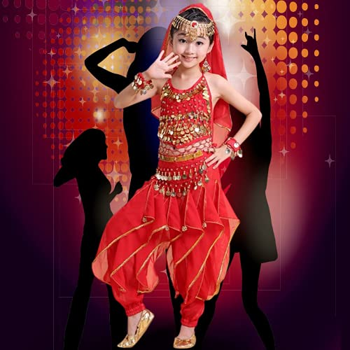 Disfraz De Danza del Vientre para Nios, Diseo Ajustable Disfraz De Danza del Vientre para Nias Disfraz De Danza para Nias(Metro)