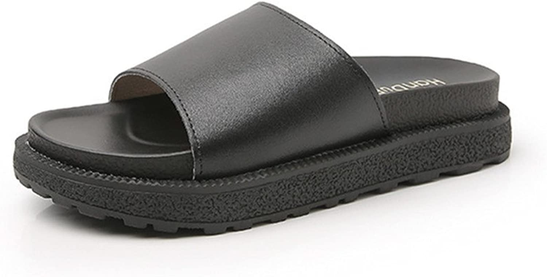 24XOmx55S99 Women's Fashion Platform Flat Anti-Slip Summer Breathable Slippers
